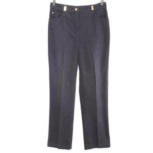 St. John Sport Dark Blue Denim Straight Leg Pants